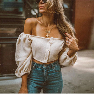 Button Up Off Shoulder Tank Top