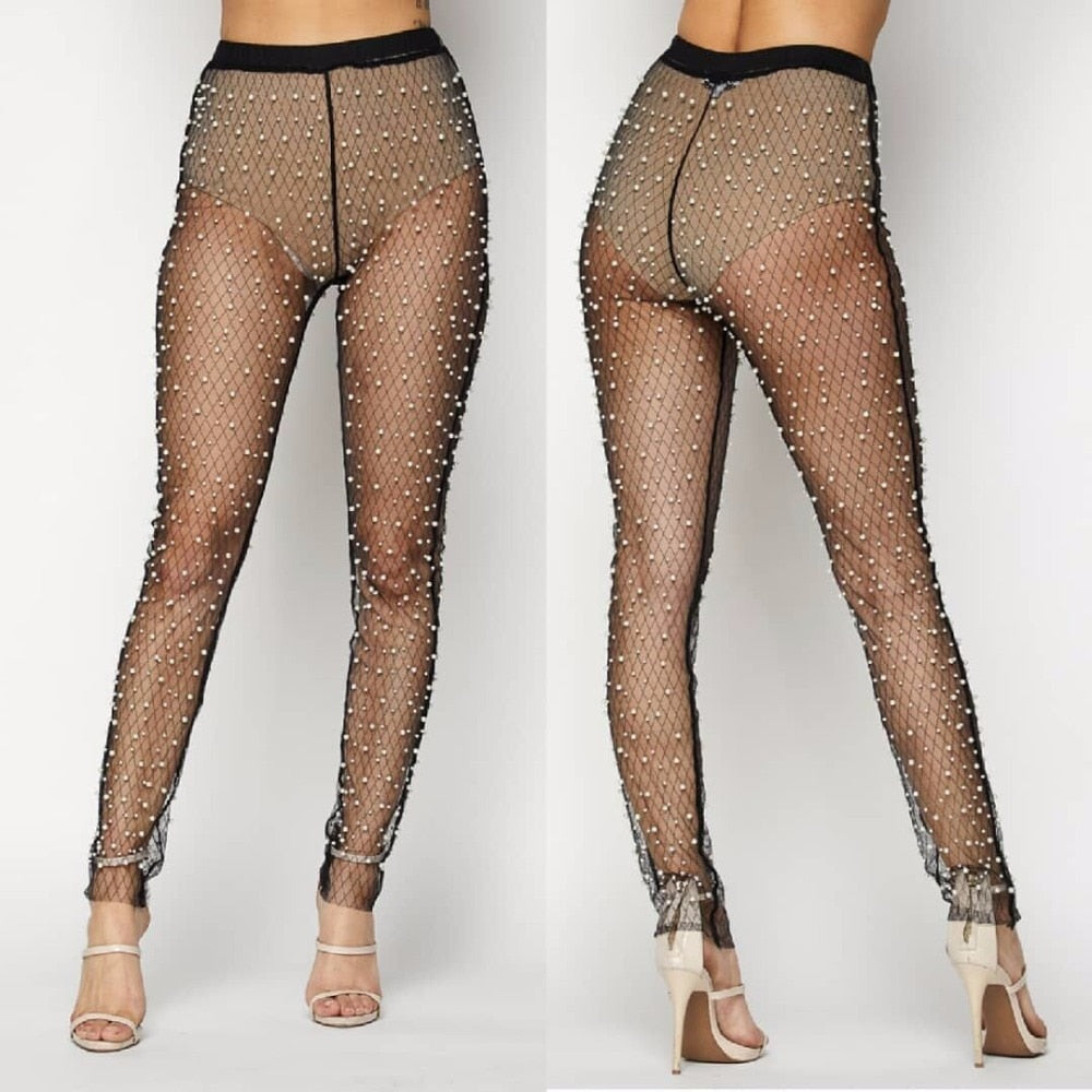 Sexy Mesh Sheer Ultra Thin Trousers