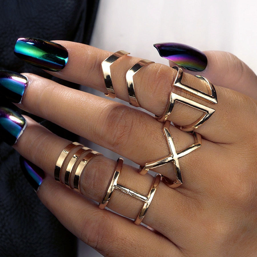 Steampunk Boho Knuckles Rings