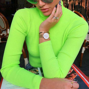 Fluorescent Long Sleeve Turtuleneck