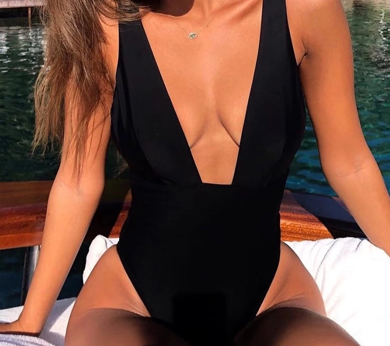 Push Up V Neck Bathing Suit