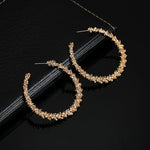 Round Hollow Hoop Earrings
