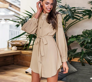 Embroidery A-line Long Sleeve Dresses