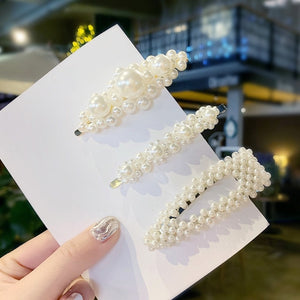 Elegant Pearls Hair Clips Sets