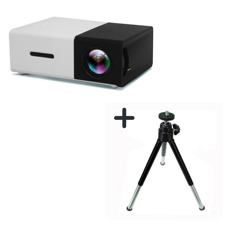 Mini Projector With Tripod Included