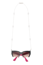 Load image into Gallery viewer, Frame Chain -  18k White Gold Plated Jackie Oh Sunglasses Chain