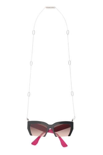 Frame Chain -  18k White Gold Plated Jackie Oh Sunglasses Chain