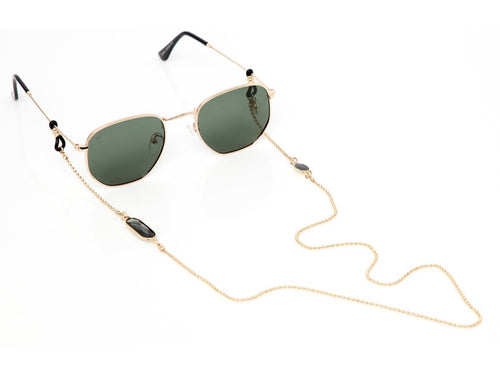 Sunny Cords - Crystal C Gold Sunglasses Chain - Black