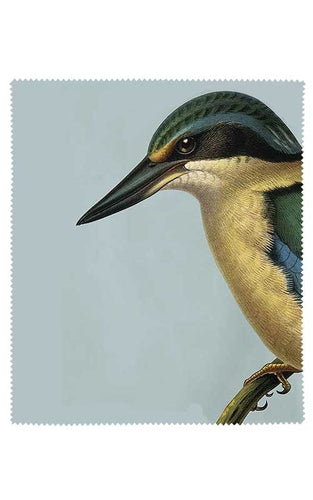 Native Bird Lens Cloth - Blue Kingfisher