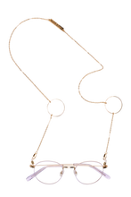 Load image into Gallery viewer, Frame Chain -  Loop de Loop Sunglasses Chain  - Yellow Gold