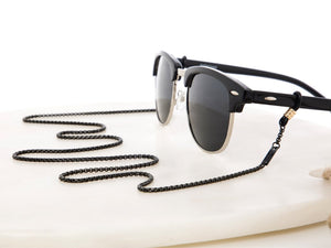 Sunny Cords - Unisex Mister Black Medium Metal Sunglasses Chain - Black