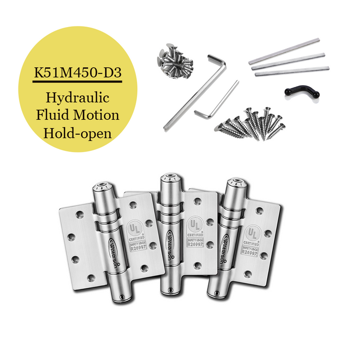 "K51M-450-D3 | Hydraulic Hybrid Self Closing Hinge | 4.5"" x 4.5"" 