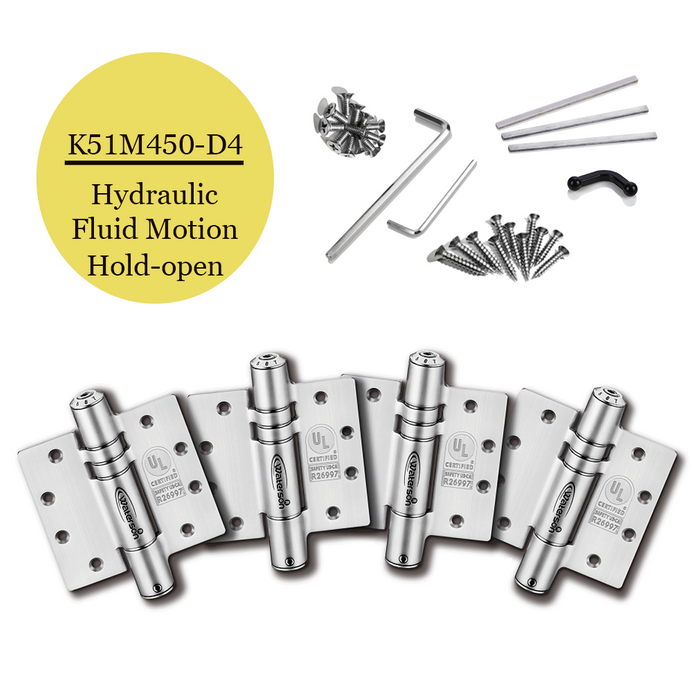 "K51M-450-D4 | Hydraulic Hybrid Self Closing Hinge | 4.5"" x 4.5"" 