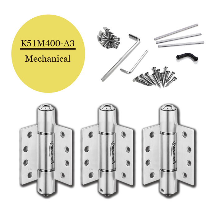 "K51M-400-A3 | Mechanical Adjustable Self Closing Hinge | 4.0"" x 4.0"" 