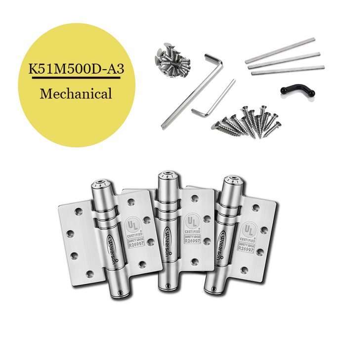 "K51M-500D-A3 | Mechanical Adjustable Self Closing Hinge | 5"" x 5"" 