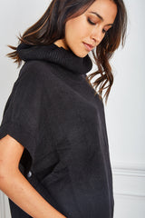 Haut manches courtes style poncho