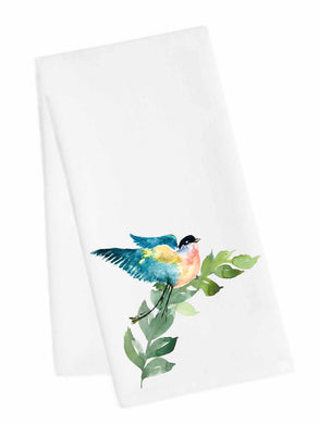Bird Tea Towel<br>Blue