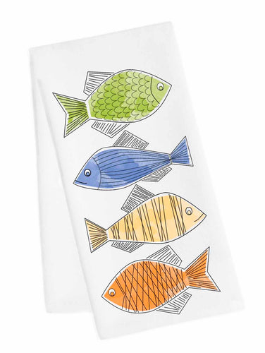Coastal Tea Towel<br>Fishies