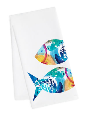 Coastal Tea Towel<br>Funky Fish