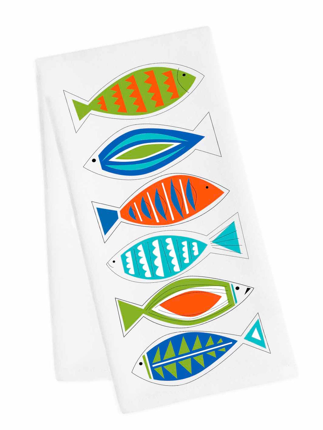 Coastal Tea Towel<br>Mod Fish