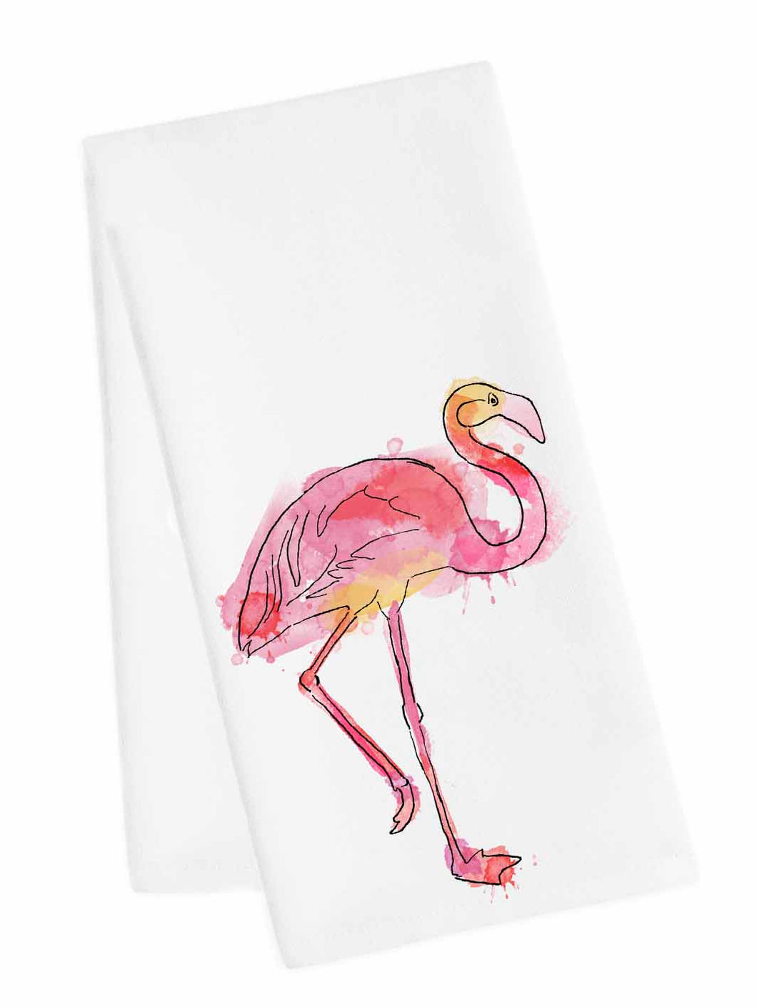 Coastal Tea Towel<br>Flamingo