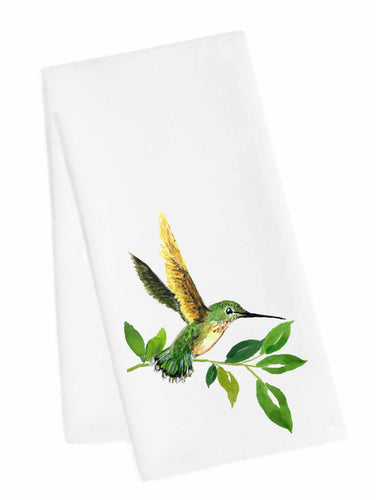 Bird Tea Towel<br>Hummer Green