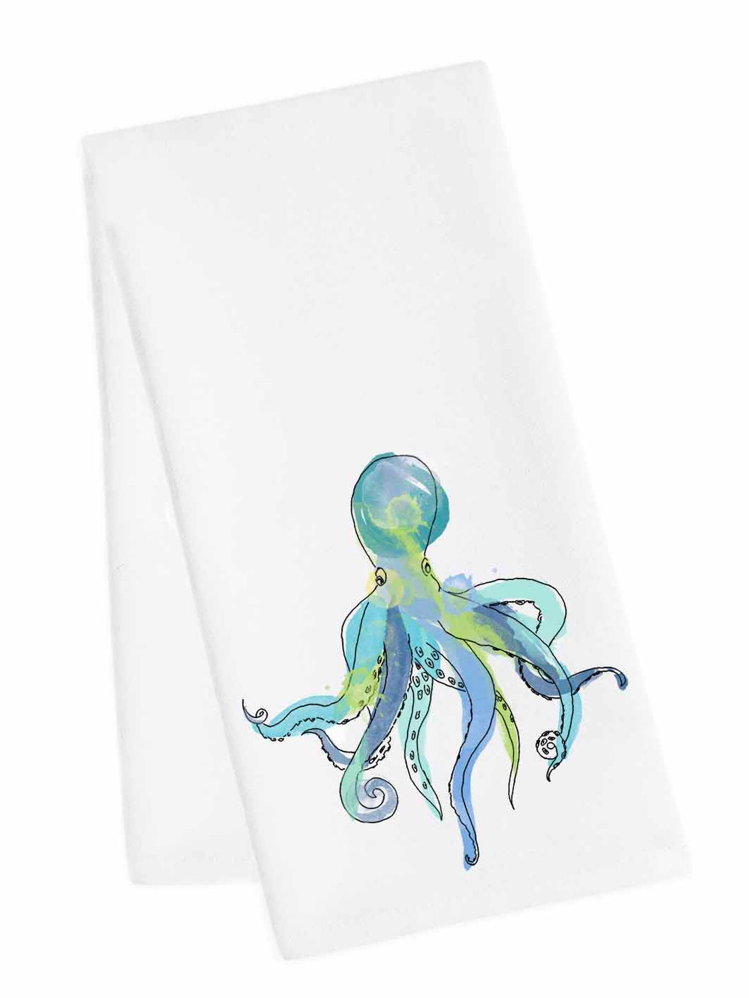 Coastal Tea Towel<br>Octopus