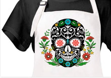 Load image into Gallery viewer, Sugar Skull Apron
