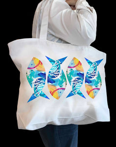 Abstract Fish Tote Bag