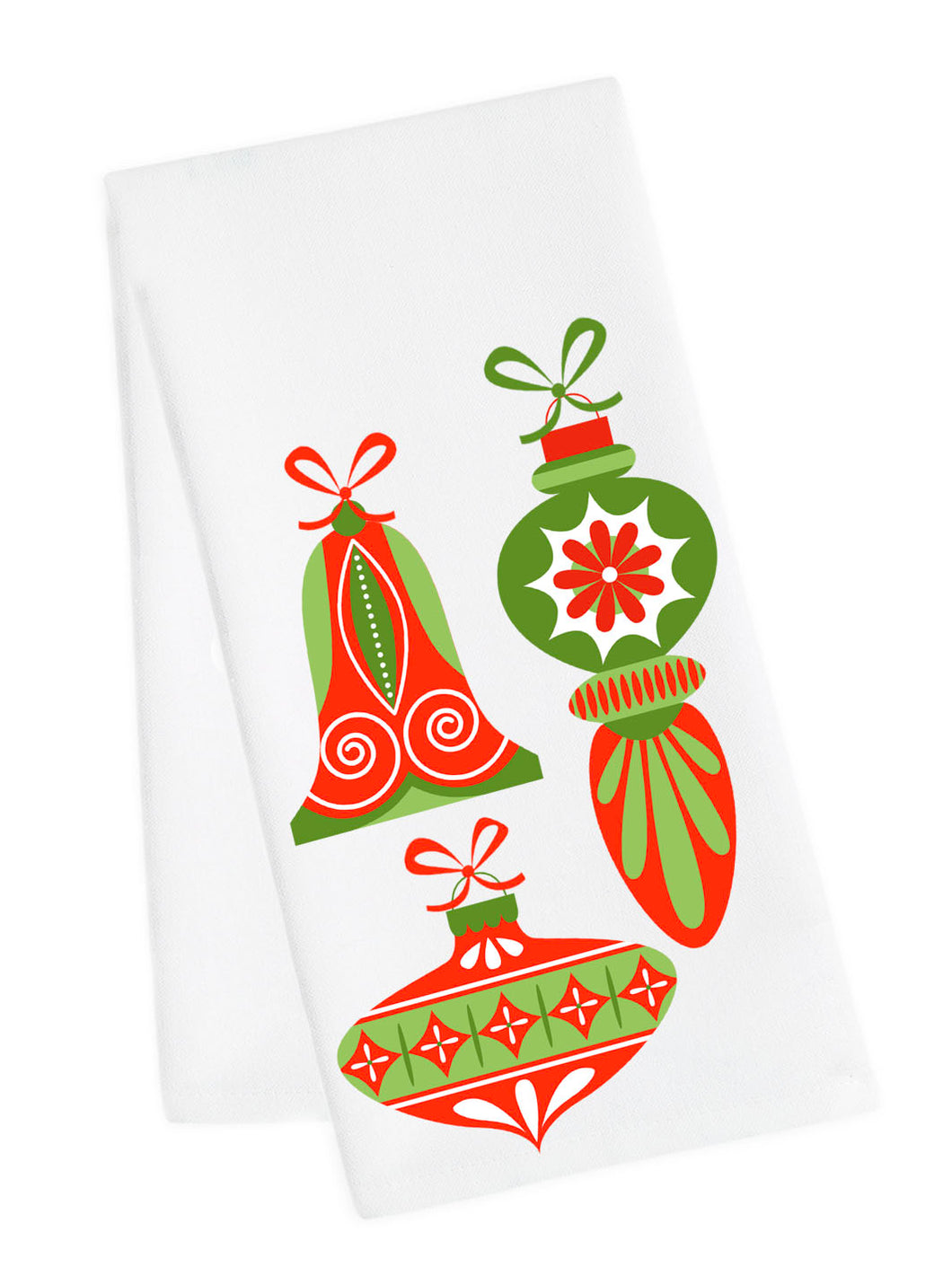 Holiday Baubles Tea Towel