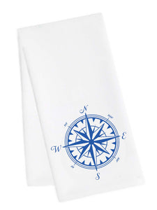 Sailboat Compass Tea Towel
