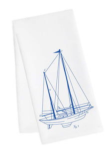Sailboat Tea Towel
