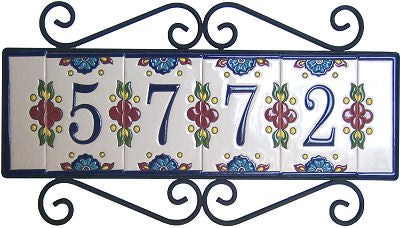 Talavera Tile House Numbers and Frames