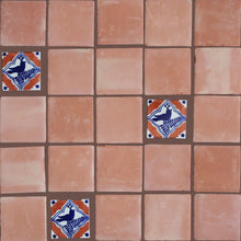 "Load image into Gallery viewer, Square 5"" Clay Saltillo Floor Tile"