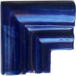 Cobalt Blue Chair Rail Corner Molding