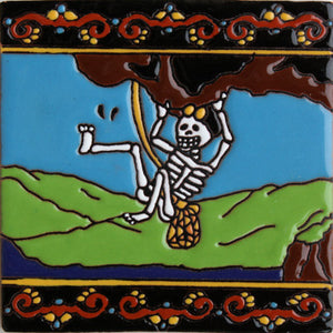 Cliffhanger Day Of The Dead Clay Tile