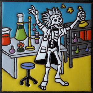 The Mad Chemist Day Of The Dead Clay Tile