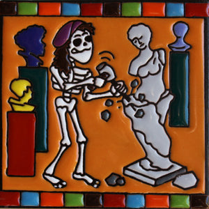 The Sculptor Day Of The Dead Clay Tile
