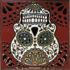 Happiness Day Of The Dead Clay Tile