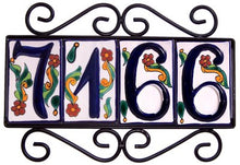 Load image into Gallery viewer, Horizontal Wrought Iron House Number Frame Colonial