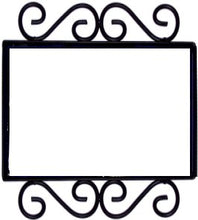 Load image into Gallery viewer, Horizontal Scroll Wrought Iron Hacienda Tile Frame