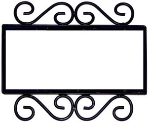 Horizontal Scroll Wrought Iron Hacienda Tile Frame