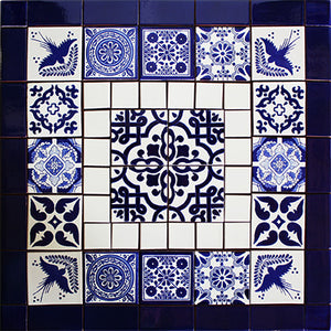 Cinza Mexican Tile Set Backsplash Mural