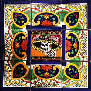 Pola Mexican Tile Backsplash Mural