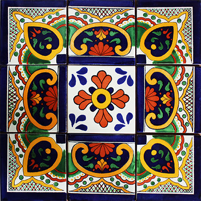 Soria Mexican Tile Set Backsplash Mural
