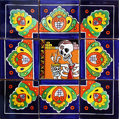 Velada Mexican Tile Set Backsplash Mural