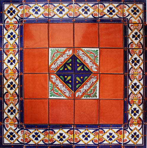 Piedad Mexican Tile Set Backsplash Mural