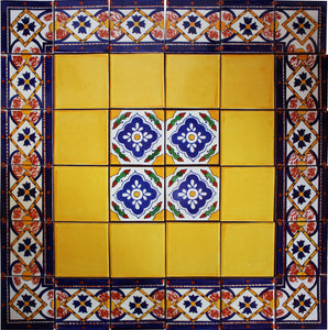 Copal Mexican Tile Set Backsplash Mural