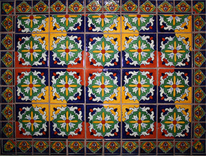 Tulia Mexican Tile Backsplash Mural