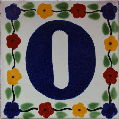 Bouquet Talavera Tile Numbers